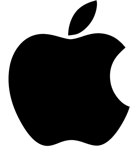 apple logo nero